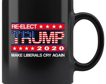 111cb08d01ac0a Trump 2020 Mug - Keep America Great Vote For Trump - Trump Mug - Re-elect  Trump American Flag - Trump Support - Trump Coffee Mug - Flag Mug