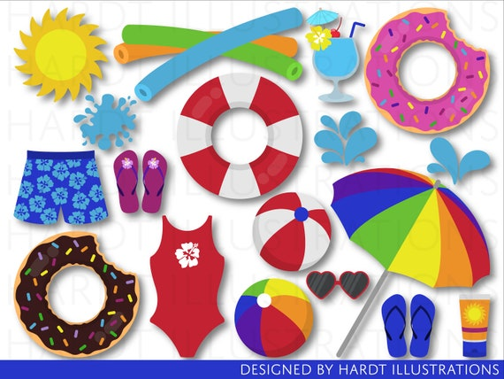 Pool Party Clipart Clip Art Summer