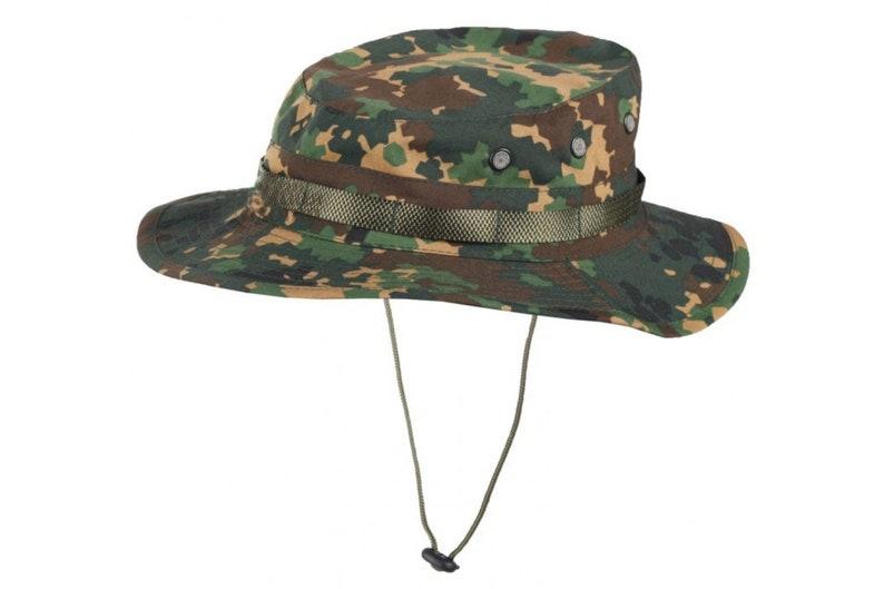 23dec364140 Izlom camo panama boonie hat rip-stop fracture summer cap