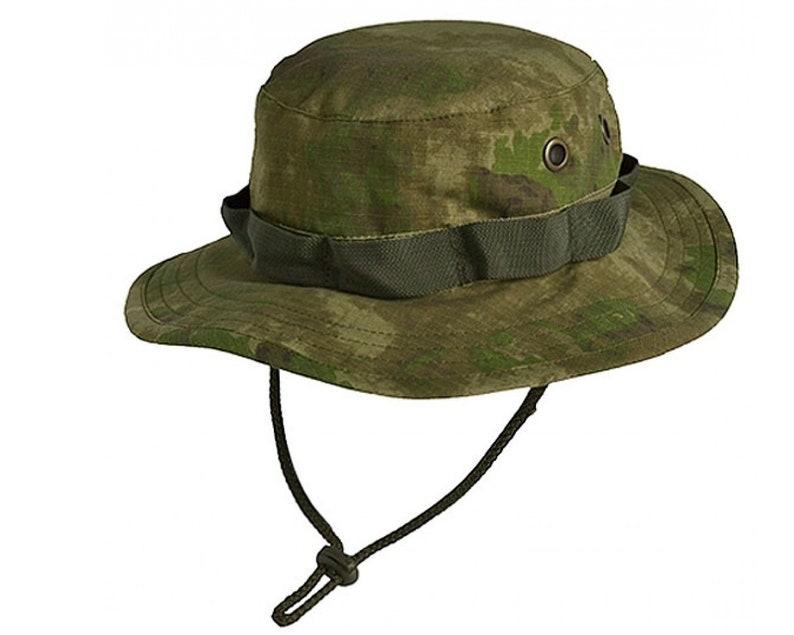 a10d7670ef6 Camo panama boonie hat a-tacs rip-stop russian cap