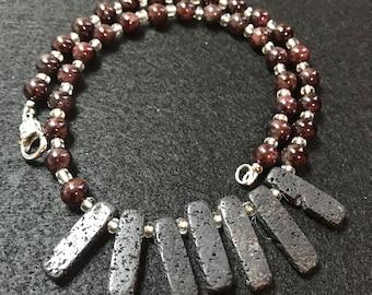 RJ Body Treasure Handmade, Unique Lava Necklace