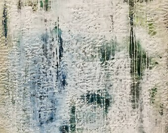 Encaustic and oil painting on wood panel