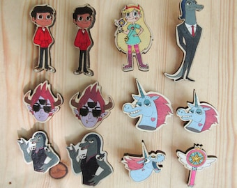 Star Vs Forces Of Evil Pins Magnets