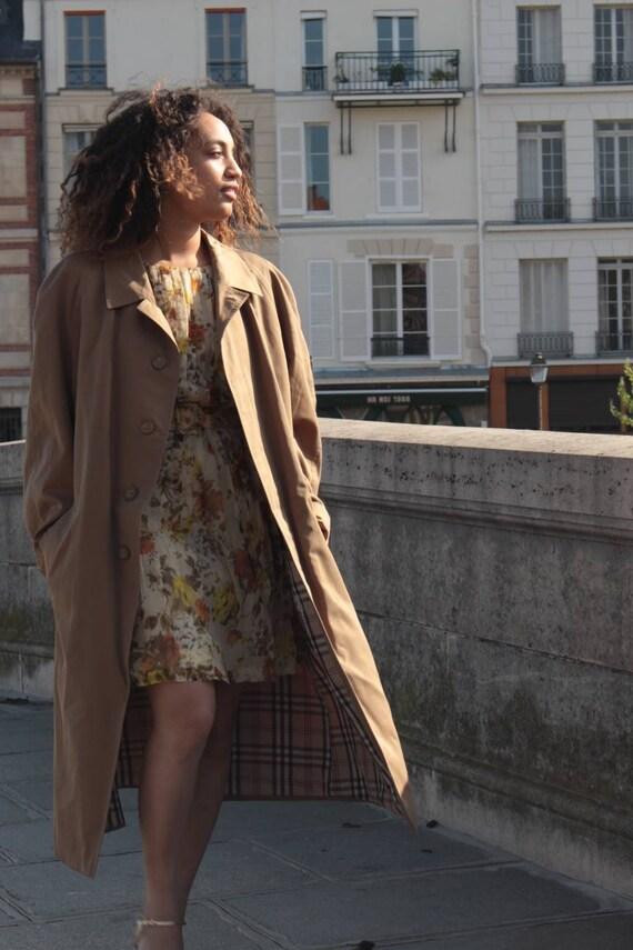 Vintage beige trench coat, vintage trench coat, vi