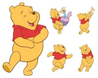 Winnie The Pooh SVG Bundle, Eeyore svg, Piglet svg, Tiger svg, Winnie Pooh, Clipart, Printable, Vector, png, pdf, eps, svg