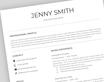 resume template for mac apple pages word for mac ready etsy