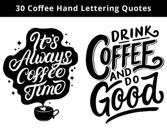 Coffee Quote Print Etsy