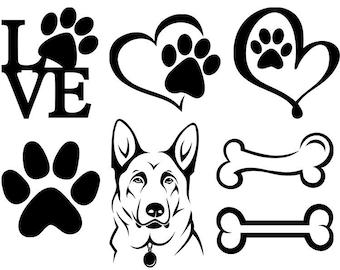 Dog paw print | Etsy