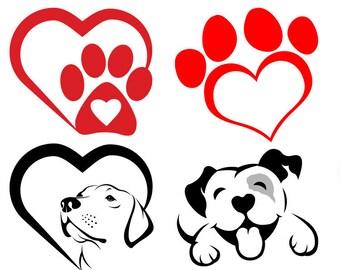 6fd2da93f323 Paw Prints Heart SVG
