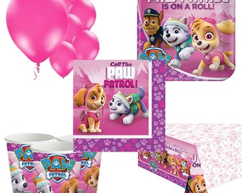 Pink Paw Patrol Party Pack for 8, 16, 24 or 32 kids (price shown for 8pk)