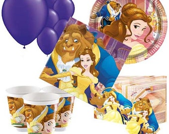 Beauty & The Beast Party Pack for 8, 16, 24 or 32 kids (price shown for 8pk)