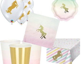 We Heart Unicorns Party Pack for 8, 16, 24 or 32 kids (price shown for 8pk)