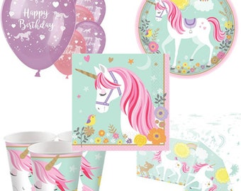 Magical Unicorn Party Pack for 8, 16, 24 or 32 kids (price shown for 8pk)