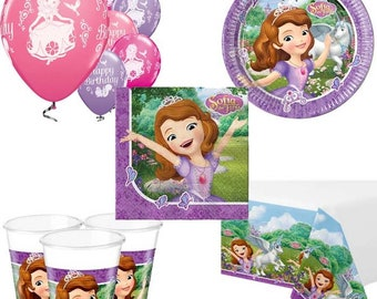 Sofia The First Party Pack for 8, 16, 24 or 32 kids (price shown for 8pk)