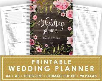 wedding planner printable maid of honor planner bridesmaid etsy