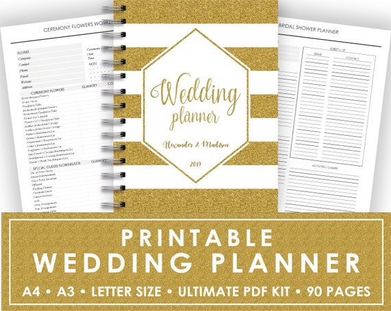 Custom Wedding Planner Wedding Planner Printable Keepsake | Etsy