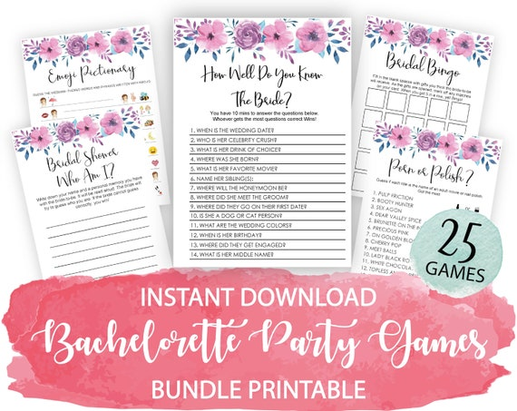 hens party games 8 game bundle rose gold dirty bachelorette games download bachelorette party printable Bachelorette party games