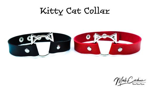 collar choker Kitten choker Red kitten play collar ddlg collar white princess day collars kitten play chokers kittenplay petplay collar 8
