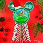 Button Accessory - Christmas Mouse