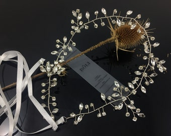 Bridal Hair Jewelry: Rhinestone Bridal band, wedding hair Jewelry