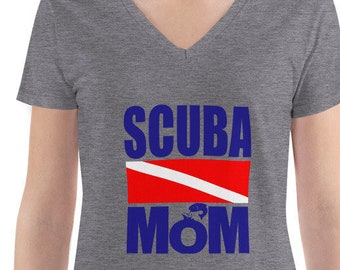 3c6c02dad3 Deep V-neck Tee SCUBA Mom, Best Gift For Divers, Diving mom Tee, Diving  Shirt, Dive Instructor T-Shirt, Funny Diver Gift, Divemaster Shirt