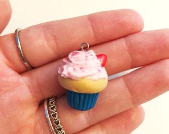 Strawberry cupcake charm