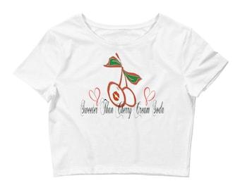 Women's 918Zone Cherry Cream Soda Crop Tee