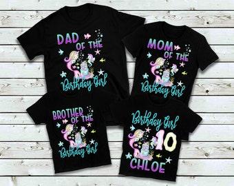 0afe44c1 Mermaid Shirts, Mermaid Family Matching Birthday Party Family Custom Shirts