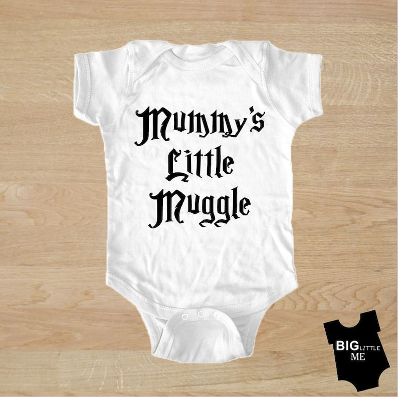 6c516d6bd Mummy's little Muggle Harry Potter baby onesie | Etsy