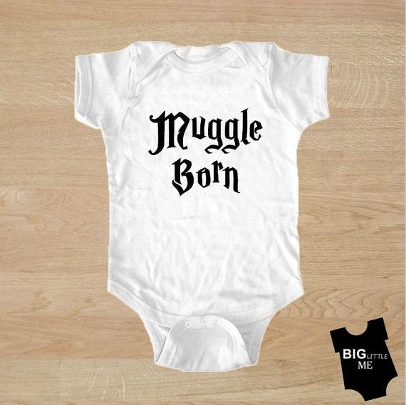 Muggle Born Harry Potter Funny Baby Shower Gift Bodysuit Grow Vest