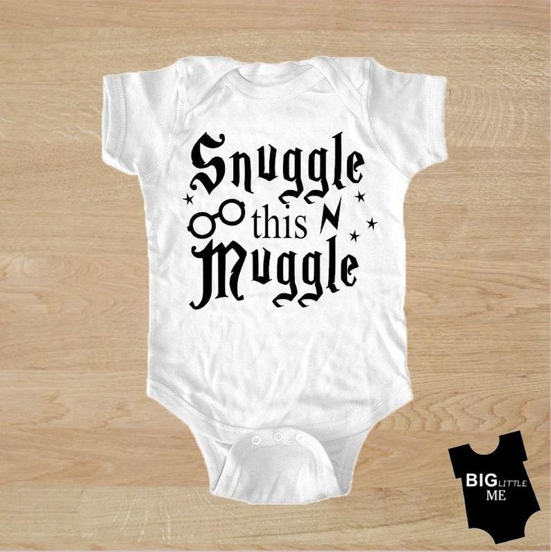 81ba27131 Snuggle this Muggle Harry Potter baby onesie bodysuit   Etsy