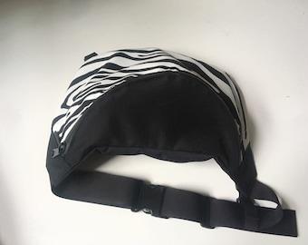 ANIMAL PATTERN  Big Hip Bag, Zebra fanny pack, Punk  Waist Bag, Kidney Bag, Bum Bag, Waterproof Bag, Vegan Bag, messenger bag, Animal print