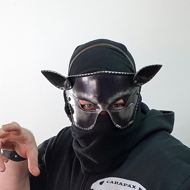 Mask Cat Woman Animal Fantasy Larp Cosplay Theater Movie Halloween Armor Metal