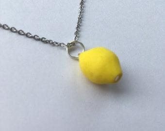 Miniature Lemon Necklace