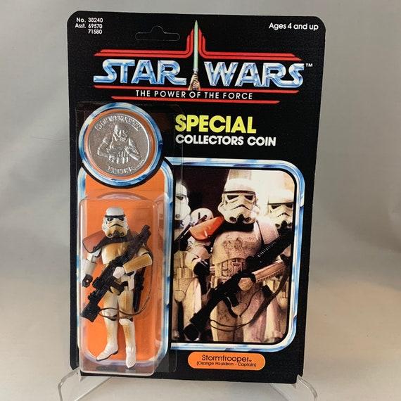 Luke Skywalker Stormtrooper-Star Wars-Power of the Force-ORANGE carte-Comme neuf on Card