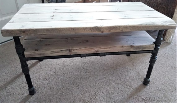Cool Rustic Industrial Black Pipe And Wood Coffee Table Machost Co Dining Chair Design Ideas Machostcouk