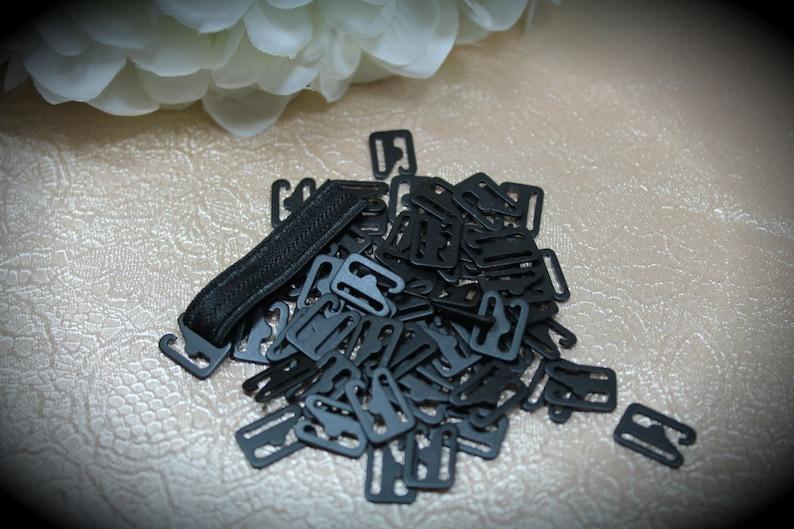 Bra BlackGrey  Nylon Coated  Metal Small Swan Hooks 10 mm Lingerie Underwear Lingerie Supplies