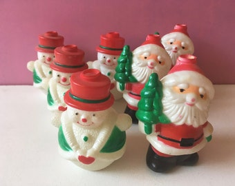 4c6393c9e00a5 Santa and Snowman String Light Covers Christmas Lights Set of 7