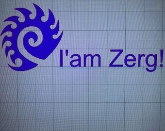 I'am Zerg Starcraft Decal