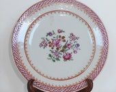 Qianlong Famille Rose 18th century small handpainted flower Plate China 18th century porcelain China Chinese antique Chien Lung