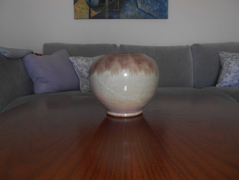 Midcentury art Nouveau brown ceramic vase ceramika WILENSKA TORUN Poland ceramic year ca 1950-60