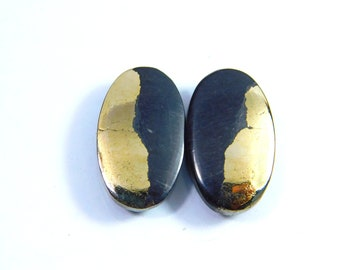 Exclusive Golden Apache Pyrite Cabochon 26X26X06 MM Handmade Loose Stone Very Pretty Healing Golden Apache Pyrite Gemstone US-1993