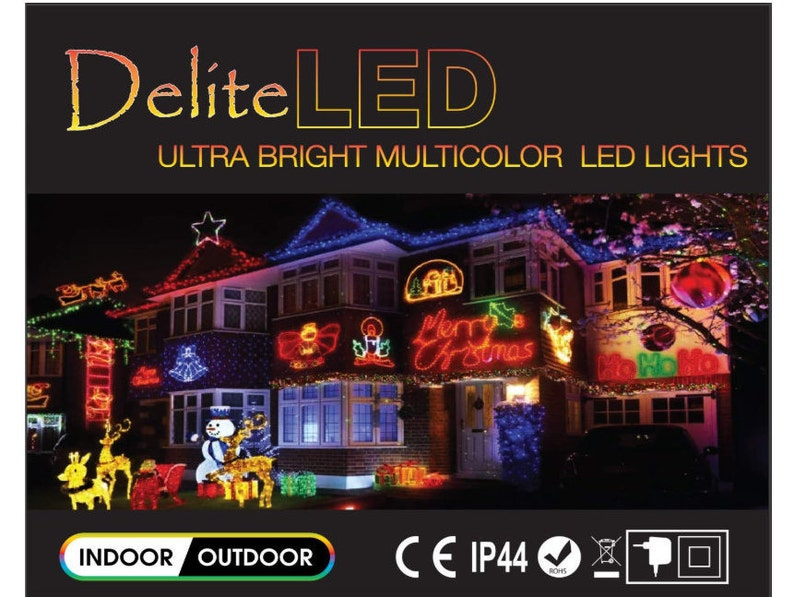 Indoor Outdoor String Lights for Christmas Wedding Party Room Decoration UL Certified 100 LEDs Multicolored