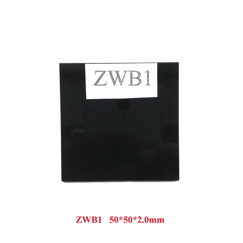 ZWB1 UG11 U340 312nm 302nm UV Pass Filter Ultraviolet Transmit Visible  light cut glass UV Transilluminator Fluorescent paint Photography