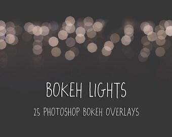 Bokeh Overlays for Photoshop - Bokeh Lights, fun and colourful bokeh overlays