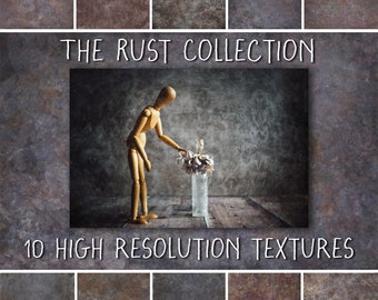 Grunge Texture Overlays for Photoshop, Rust Collection, Digital Textures for Scrapbooking and  Creative Photography
