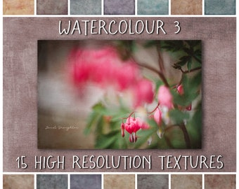 Painterly Texture Overlays, Watercolour Collection No 3 - fine art grunge textures for Photoshop