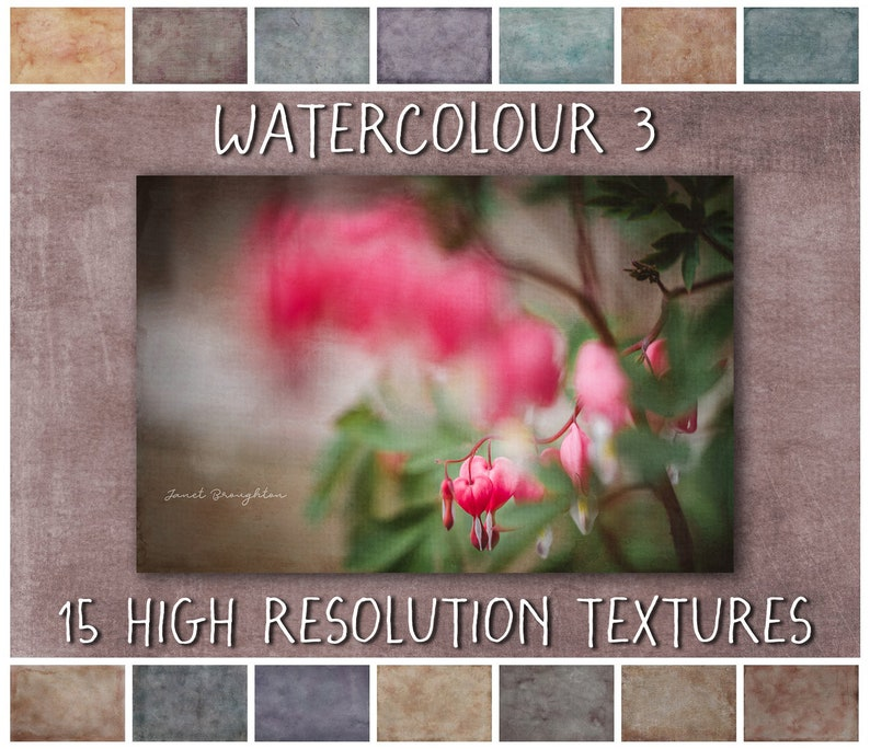 Painterly Texture Overlays Watercolour Collection No 3  fine image 0