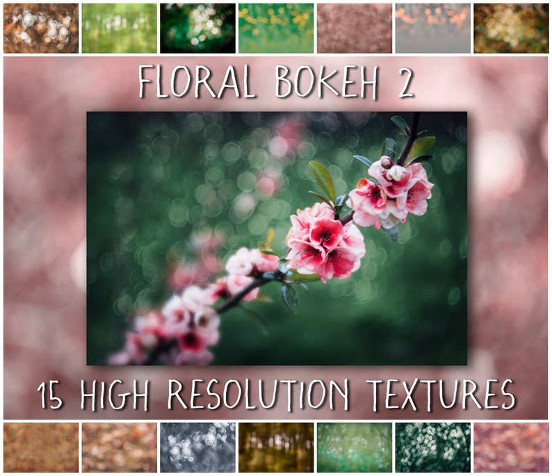 Bokeh Overlays and Textures for Photoshop  The Floral Bokeh 2 image 0