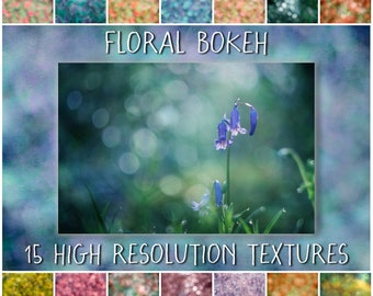 Painterly Fine Art Photoshop Overlays for Photographers - The Floral Bokeh Collection of digital textures